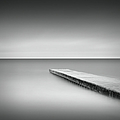 Monochrome Long Exposure Jetty, Blyth Uk by Paul Simon Wheeler Photography