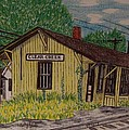 Monon Clear Creek Indiana Train Depot by Kathy Marrs Chandler