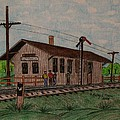 Monon Ellettsville Indiana Train Depot by Kathy Marrs Chandler