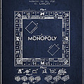 Monopoly Patent from 1935 - Navy Blue by Aged Pixel