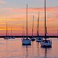 Monroe Harbor Sunrise by Lindley Johnson