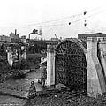 Monroe St Bridge Construction 1910 by Daniel Hagerman