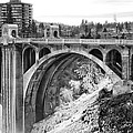 Monroe Street Bridge Iced Over - Spokane Washington by Daniel Hagerman