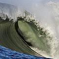 Monster Surf At Mavericks Point In Half Moon Bay California by Scott Lenhart