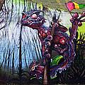 Monster With Flag by Roberto Pagani