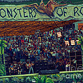 Monsters Of Rock Stage While A C D C Started Their Set - July 1979 by Daniel Larsen