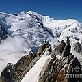 Mont Blanc And The Alpinists by Cristina Stefan
