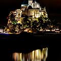 Mont Saint Michel At Night 1 by Weston Westmoreland