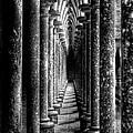 Mont St Michel Pillars by Nigel R Bell