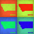 Montana Pop Art Map 1 by Naxart Studio