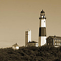 Montauk Point Light In Sepia by Christiane Schulze Art And Photography
