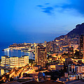 Monte Carlo Cityscape At Night by Matteo Colombo