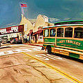 Monterey And Cable Car Bus by Blake Richards
