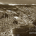 Aerial Of Monterey And Pacific Grove  California Oct. 25 1934 by California Views Archives Mr Pat Hathaway Archives