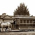 Monterey And Pacific Grove Street Railway Circa 1895 by California Views Mr Pat Hathaway Archives