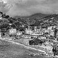 Monterosso Al Mare - Cinque Terre In Grey by James Anderson