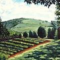 Monticello Vegetable Garden by Penny Birch-Williams