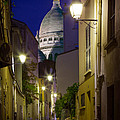 Montmartre Street And Sacre Coeur by Inge Johnsson