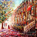 Montreal Cityscape - St-denis Street by Cristina Stefan