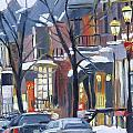 Montreal Hiver Crescent by Darlene Young