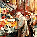 Montreal Market Scene Marche Atwater by Carole Spandau
