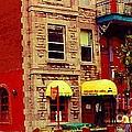 Montreal Memories Restaurant Chez Orphee 362 Fairmount Cb Spandau Montreal Premier City Scene Artist by Carole Spandau