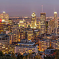 Montreal Skyline At Night by Pierre Leclerc Photography