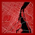Montreal Street Map - Montreal Canada Road Map Art On Color by Jurq Studio
