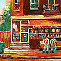 Montreal Street Scene Paintings by Carole Spandau
