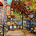 Montreal Streetscenes By Cityscene Artist Carole Spandau Over 500 Montreal Canvas Prints To Choose  by Carole Spandau