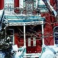 Montreal The Esplanade In Winter by David M Davis