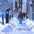 Montreal Winter Downtown by Darlene Young