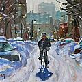 Montreal Winter Fastest Transportation by Darlene Young