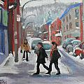 Montreal Winter Scene Mont Royal by Darlene Young