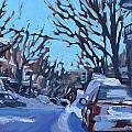 Montreal Winter Scene Morning by Darlene Young