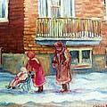 Montreal Winter Scenes by Carole Spandau
