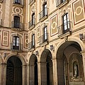 Montserrat Monastery Courtyard by Sophie Vigneault