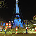 Monument Circle Indianapolis At Night by Cityscape Photography