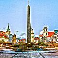 Monument In B.bystrica by Alex Art and Photo
