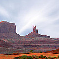Monument Valley At Sunset Panoramic by Mike McGlothlen