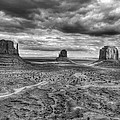 Monument Valley Black And Withe by Glen Jensen