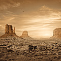 Monument Valley Golden Sunset by Susan Schmitz