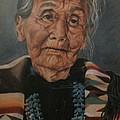 Monument Valley Lady by Wanda Dansereau