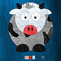 Moo The Cow License Plate Art by Design Turnpike