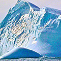 Moody Blues Iceberg Closeup In Saint Anthony Bay-newfoundland-canada by Ruth Hager