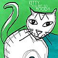 Moody Cat- Pop Art by Linda Woods