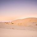 Moon And Sand Dune In Twilight by Ellie Teramoto