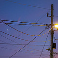 Moon And Wires by David Stone