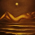 Moon Bathing -original Sold- Buy Giclee Print Nr 36 Of Limited Edition Of 40 Prints  by Eddie Michael Beck