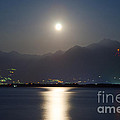 Moon Light Over A Lake by Mats Silvan